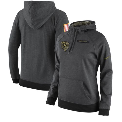 Women's Chicago Bears Nike Anthracite Salute to Service Player  free shipping