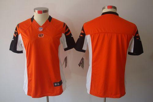 Nike Bengals Blank Orange Alternate Women s Embroidered NFL Limited Jersey 3f7f6f3ba