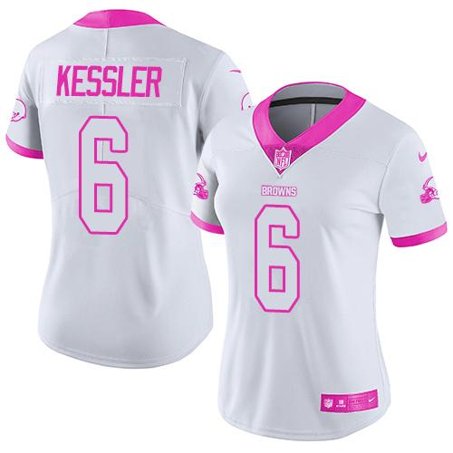 Nike Browns  6 Cody Kessler White Pink Women s Stitched NFL Limited Rush  Fashion Jersey 7864e4aae