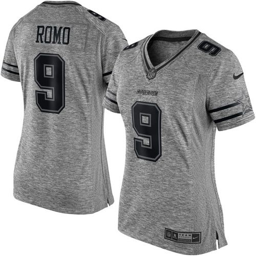 ff6e2d28e21 ... sequin lettering fashion 5bd9b fa027; purchase nike cowboys 9 tony romo  gray womens stitched nfl limited gridiron gray jersey f2ef8 76904