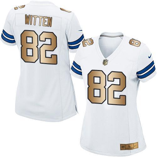 huge discount 71c75 c71f7 Nike Cowboys #82 Jason Witten White Women's Stitched NFL ...