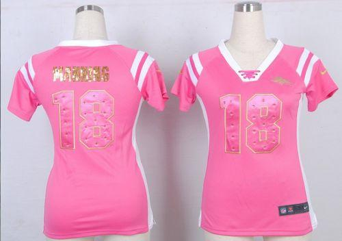 womens broncos jersey pink
