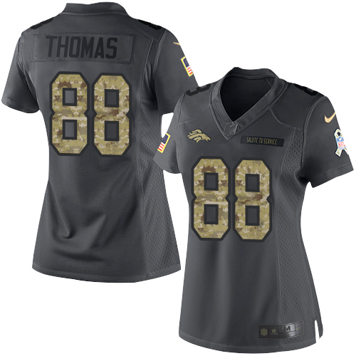 77e307e75 ... Nike Broncos  88 Demaryius Thomas Black Women s Stitched NFL Limited  2016 Salute to Service Jersey