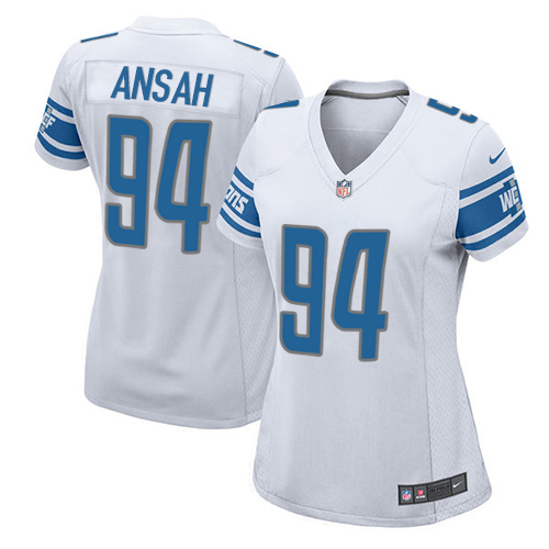 ... clearance nike lions 94 ziggy ansah white womens stitched nfl elite  jersey 34273 30848 7d1995fc5