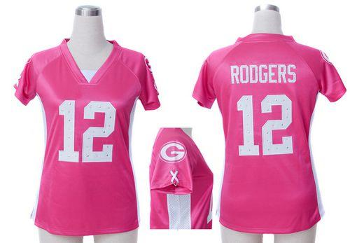Nike Packers  12 Aaron Rodgers Pink Draft Him Name   Number Top Women s  Embroidered NFL Elite Jersey eb7d20816