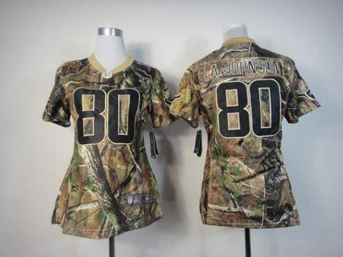 Nike Texans  80 Andre Johnson Camo Women s Embroidered NFL Realtree Elite  Jersey 53bf0fdc7