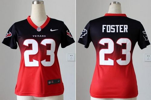 Cheap Nike Texans #23 Arian Foster Navy BlueRed Women's Stitched NFL