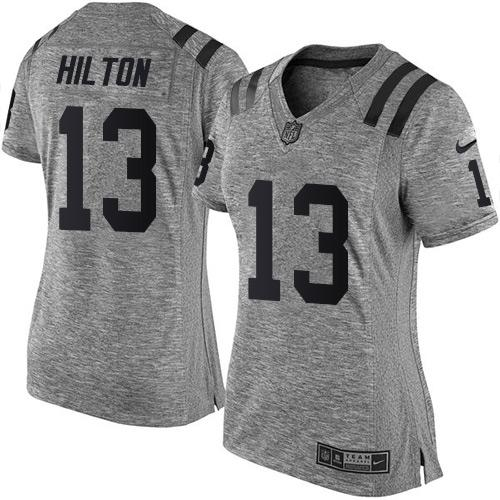 Cheap Nike Colts #13 T.Y. Hilton Gray Women's Stitched NFL Limited  supplier