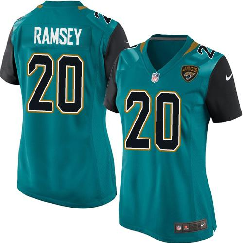 Nike Jaguars  20 Jalen Ramsey Teal Green Team Color Women s Stitched NFL  Elite Jersey 06408703b