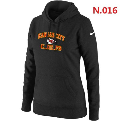 Hot Women's Nike Kansas City Chiefs Heart & Soul Pullover Hoodie Black  free shipping