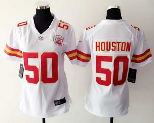 newest c539a d7bc3 Nike Chiefs #50 Justin Houston White Women's Stitched NFL ...