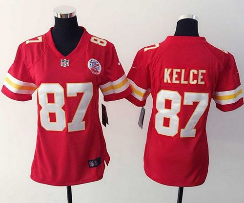 new product 5cba0 6b5e0 Nike Chiefs #87 Travis Kelce Red Team Color Women's Stitched ...
