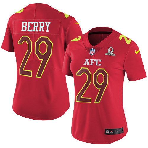 065507012 Nike Chiefs  29 Eric Berry Red Women s Stitched NFL Limited AFC 2017 Pro  Bowl Jersey