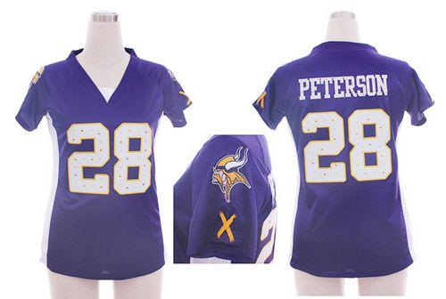 Nike Vikings  28 Adrian Peterson Purple Team Color Draft Him Name   Number  Top Women s Embroidered NFL Elite Jersey f03083a73