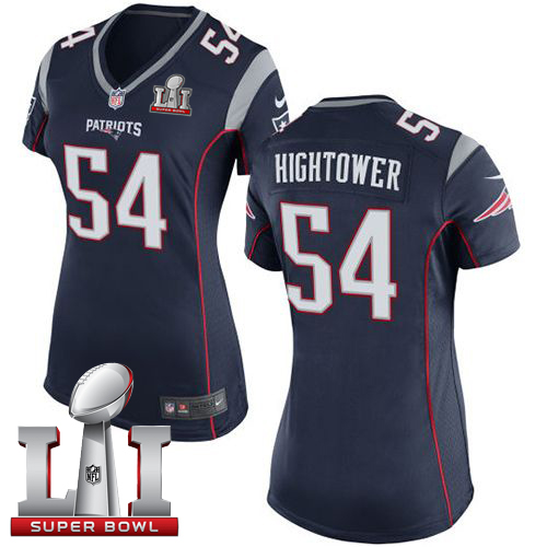 d594f7aab ... reduced nike patriots 54 donta hightower navy blue team color super  bowl li 51 womens stitched