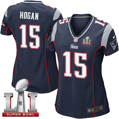 New Nike Patriots #15 Chris Hogan Navy Blue Team Color Super Bowl LI 51