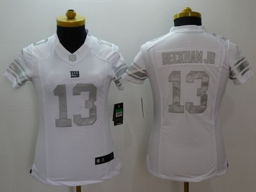Nice Nike Giants #13 Odell Beckham Jr Royal White Women's Stitched NFL