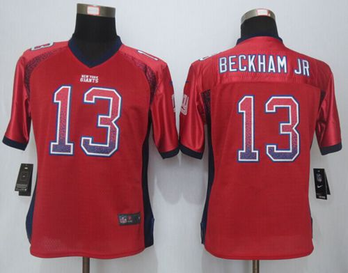 Discount Nike Giants #13 Odell Beckham Jr Red Alternate Women's Stitched NFL