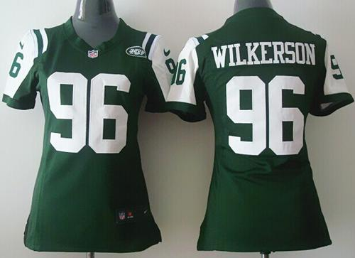 Top Nike Jets #96 Muhammad Wilkerson Green Team Color Women's Stitched