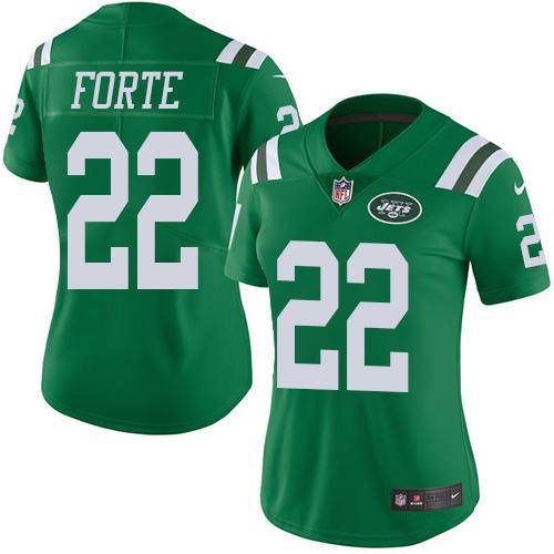 more photos 7d924 f2f05 Nike Jets #22 Matt Forte Green Women's Stitched NFL Limited ...