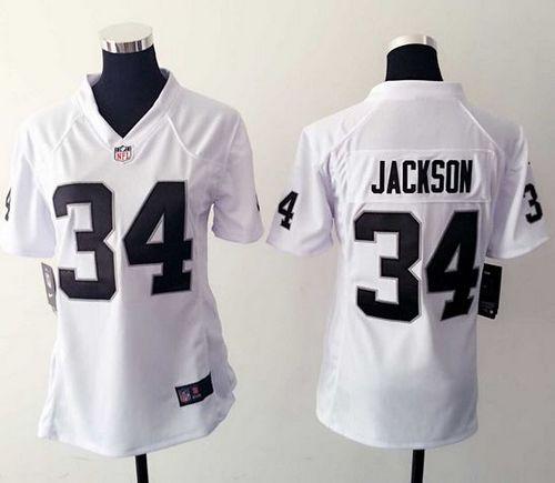 ... greece nike raiders 34 bo jackson white womens stitched nfl elite jersey  bcd3c 5ab87 25d4d76fe