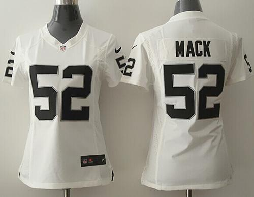outlet store ac235 40359 Nike Raiders #52 Khalil Mack White Women's Stitched NFL ...