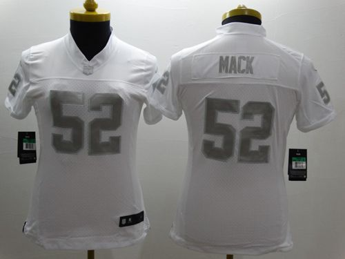 Wholesale Nike Raiders #52 Khalil Mack White Women's Stitched NFL Limited  for sale