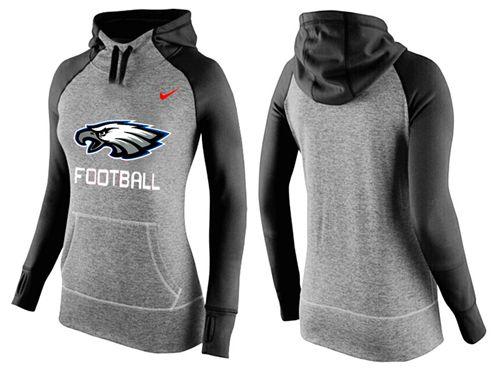 on sale 557dd 27bd4 Women's Nike Philadelphia Eagles Performance Hoodie Grey ...