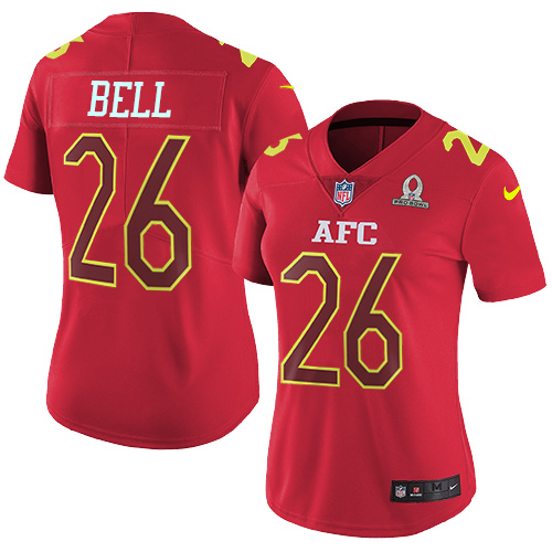 Wholesale Nike Steelers #26 Le'Veon Bell Red Women's Stitched NFL Limited AFC