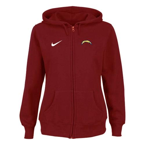 buy popular 9bd65 15884 Nike San Diego Charger Ladies Tailgater Full Zip Hoodie Red