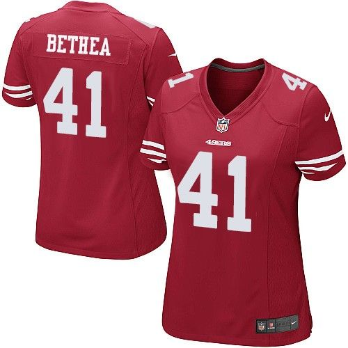 Nike 49ers  41 Antoine Bethea Red Team Color Women s Stitched NFL Elite  Jersey 2a03b1993