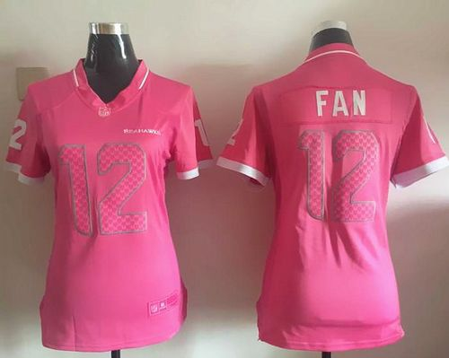 7c45500f064 Nike Seahawks #12 Fan Pink Women's Stitched NFL Elite Bubble Gum Jersey