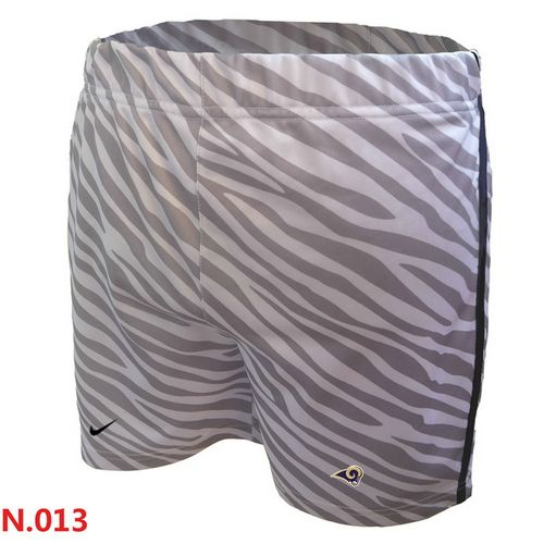 9f03185c7 Women s Nike NFL Los Angeles Rams Embroidered Team Logo Zebra Stripes Shorts
