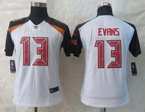 the latest daf30 855c2 Nike Buccaneers #13 Mike Evans White Women's Stitched NFL ...