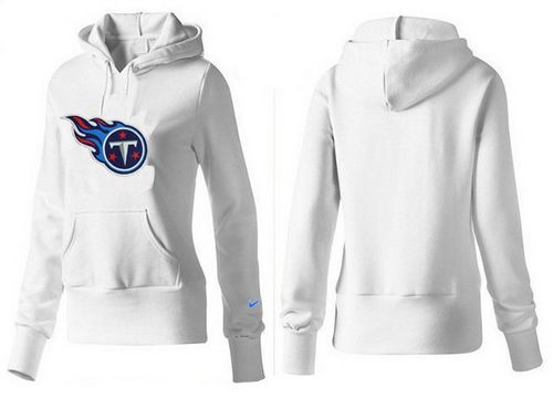 f2a33eed Women's Tennessee Titans Logo Pullover Hoodie White