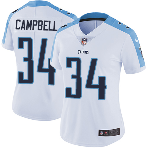 Nike Titans #34 Earl Campbell White Women's Stitched NFL Vapor  supplier