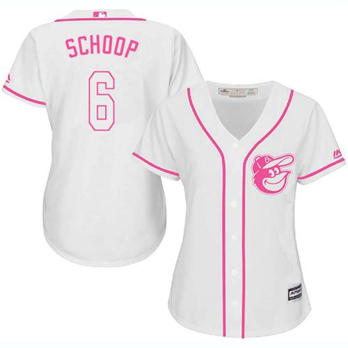 ee72dd037d1 ireland orioles 6 jonathan schoop white pink fashion womens stitched  baseball jersey cc21c e9f2b
