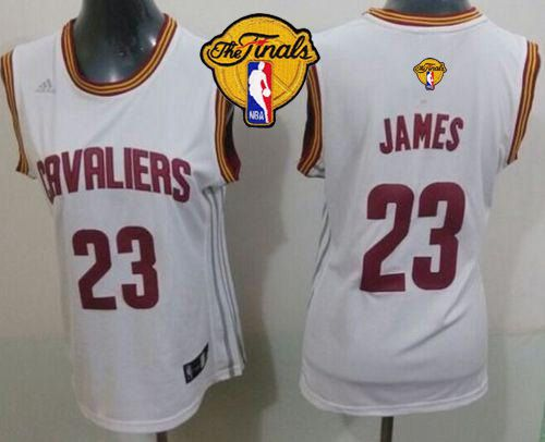 pretty nice ca8b0 a0625 Cavaliers  23 LeBron James White The Finals Patch Women s Home Stitched NBA  Jersey
