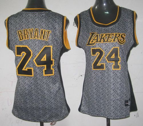 c1f2ad926e8 Lakers  24 Kobe Bryant Grey Women s Static Fashion Stitched NBA Jersey
