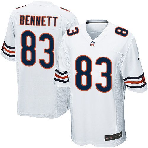 new arrival 637a6 e84f3 Nike Bears #83 Martellus Bennett White Youth Stitched NFL ...
