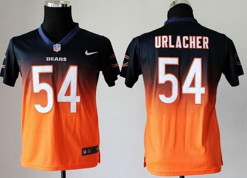 Nike Bears  54 Brian Urlacher Navy Blue Orange Youth Stitched NFL Elite  Fadeaway Fashion Jersey 565162d1d