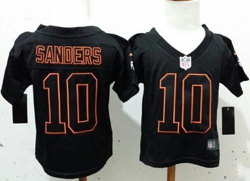size 40 b94b5 2e7ac Toddler Nike Broncos #10 Emmanuel Sanders Lights Out Black ...