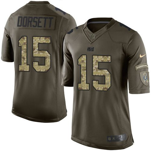 Nike Colts  15 Phillip Dorsett Green Youth Stitched NFL Limited Salute to  Service Jersey d296a1e16