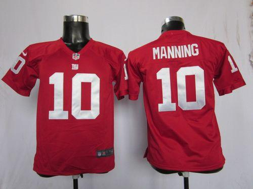 Nike Giants #10 Eli Manning Red Alternate With C Patch Youth  supplier