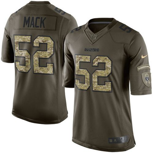 Nike Raiders  52 Khalil Mack Green Youth Stitched NFL Limited Salute to  Service Jersey 8365594c3