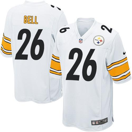 66b6cb07513 Nike Steelers #26 Le'Veon Bell White Youth Stitched NFL Elite Jersey