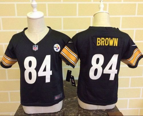 Toddler Nike Steelers  84 Antonio Brown Black Team Color Stitched NFL Elite  Jersey 2f5258781