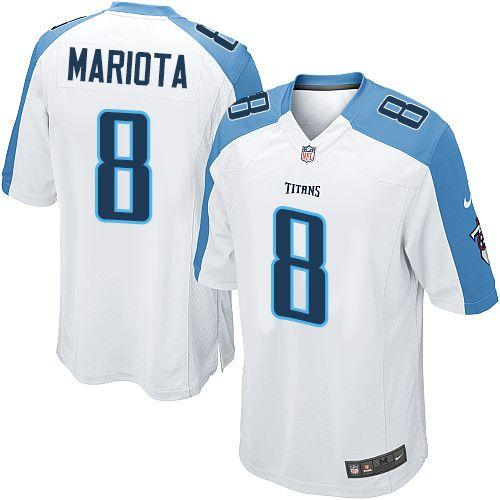 Nike Titans  8 Marcus Mariota White Youth Stitched NFL Elite Jersey 10643d60d