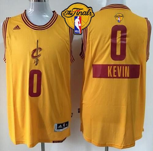 official photos 5a15e 8764c Cavaliers #0 Kevin Love Gold 2014-15 Christmas Day The ...