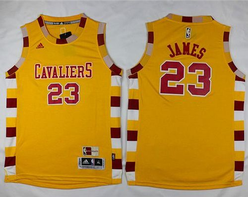 finest selection a2a26 e8473 Cavaliers #23 LeBron James Gold Hardwood Classics ...